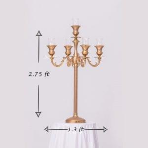 Gold candelabra #1