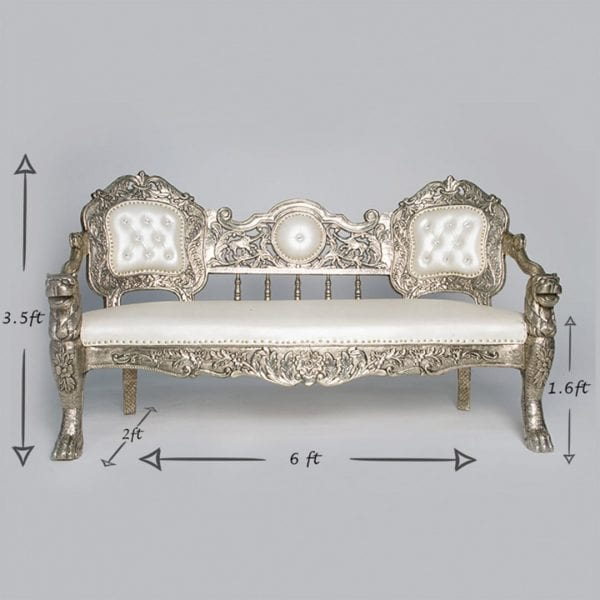 Pewter Love Seat-1