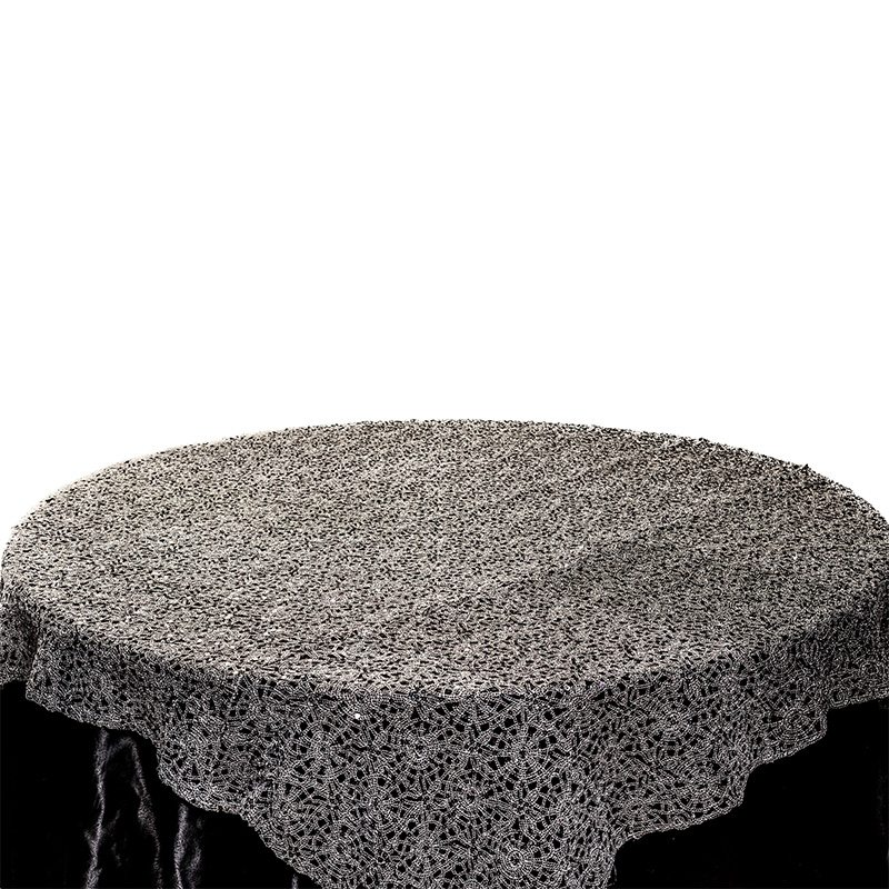 Black Mesh Overlay Table Cloth