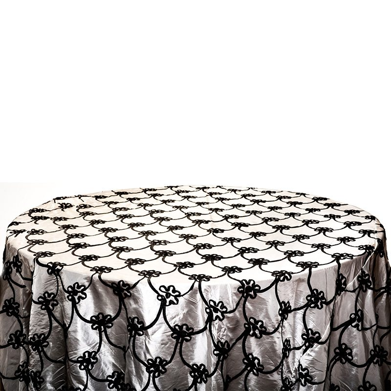 Black Ribbon Table Cloth