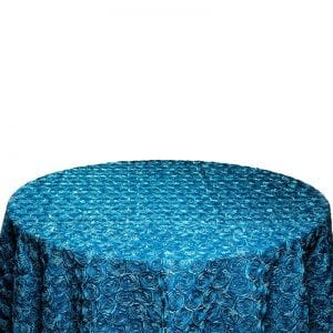 Blue Rosette Table Cloth