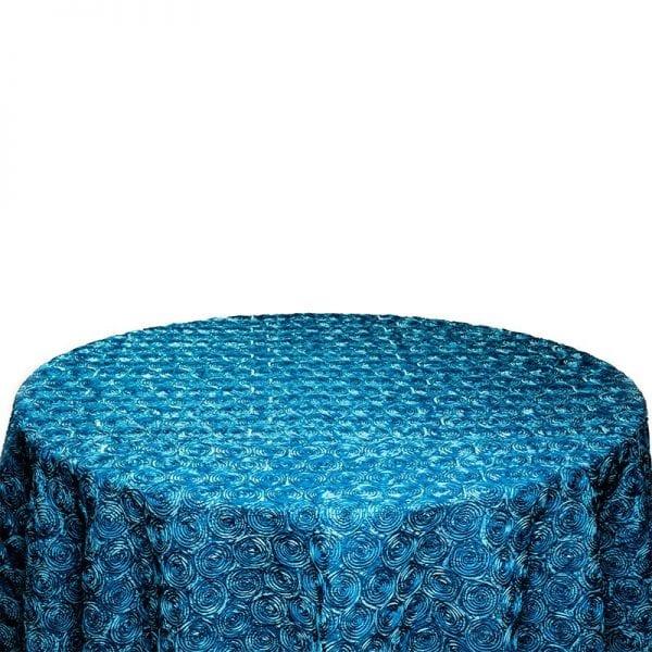 Blue Rosette Table Cloth