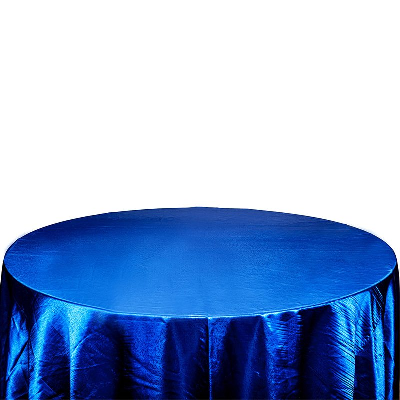 Blue Satin Table Clth For Large Size Table