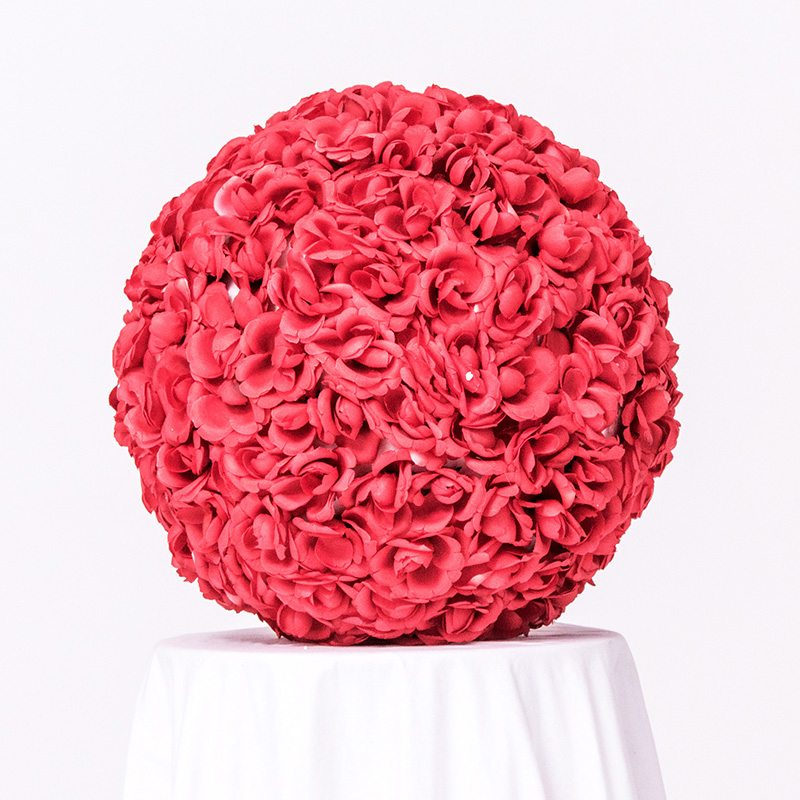 Red Floral Ball On Wedding