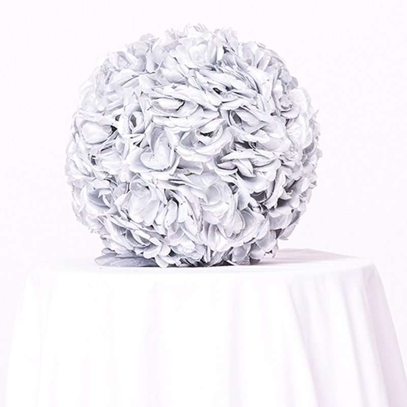Grey Floral Ball- Centerpiece