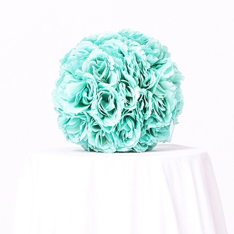 Green Floral Ball Centerpiece
