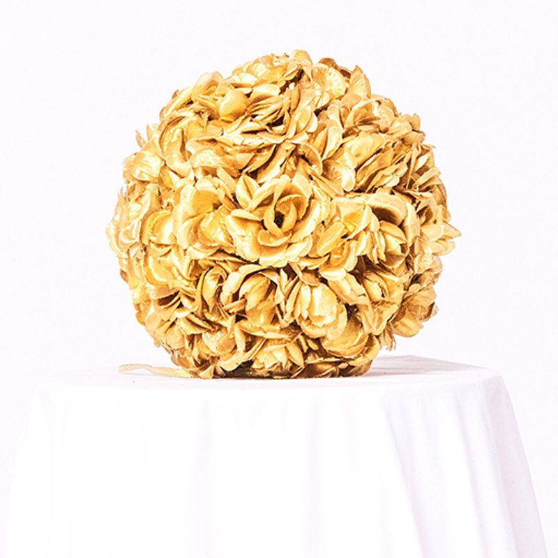 Golden Floral Ball on Rent