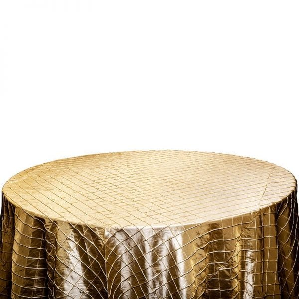 Champagne Pintuck Table Cloth