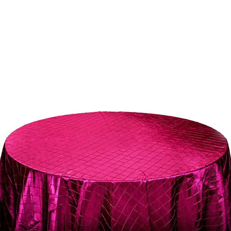Fuchsia Pintuck Table Cloth