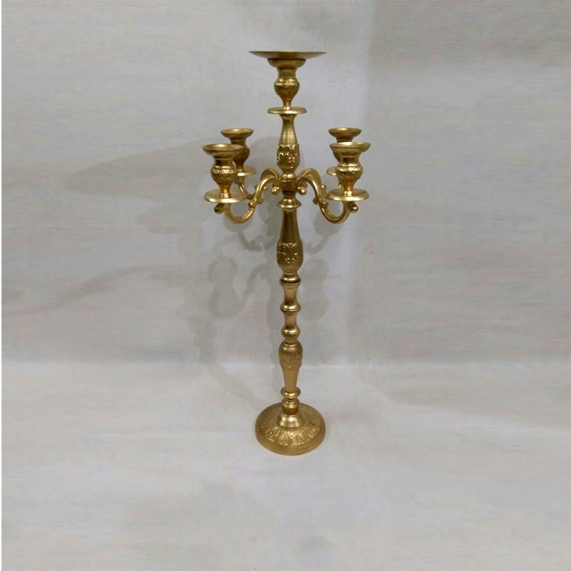 Gold candela Stand On Event Rent