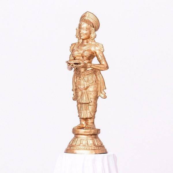 Golden Diya Lady