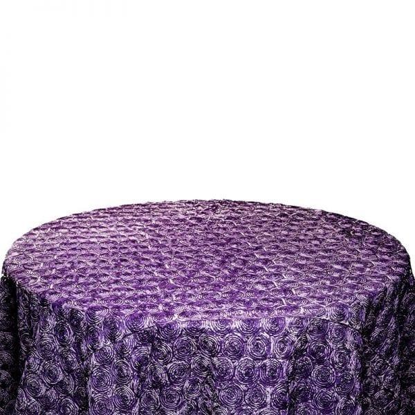 Lilac Rosette Designer Table Cloth