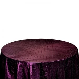 Purple Pintuck Table Cover