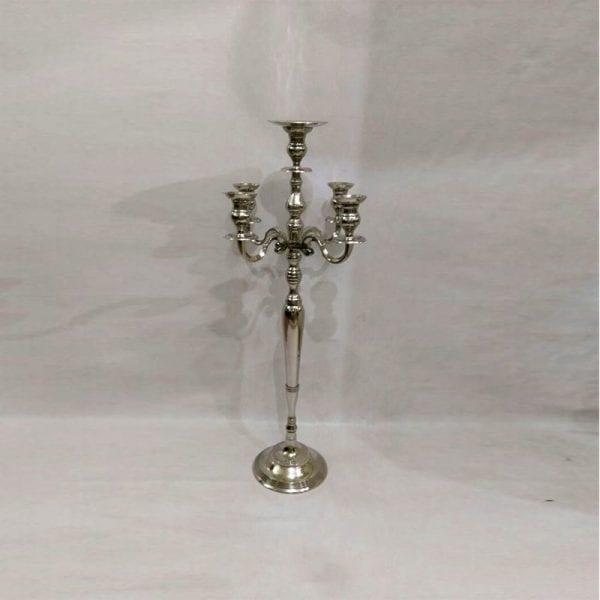 An Antique Silver Candelabra
