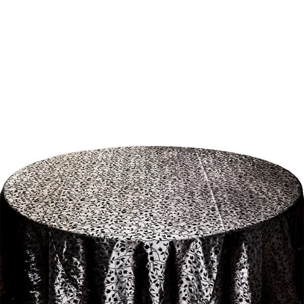 Silver Flocking Table Coth