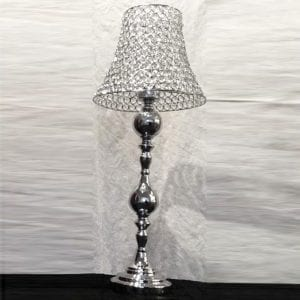 Beautiful Silverbase With Lamp Shade