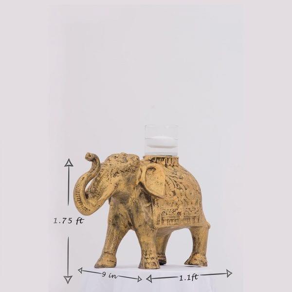 Gold Elephant Candlepiece