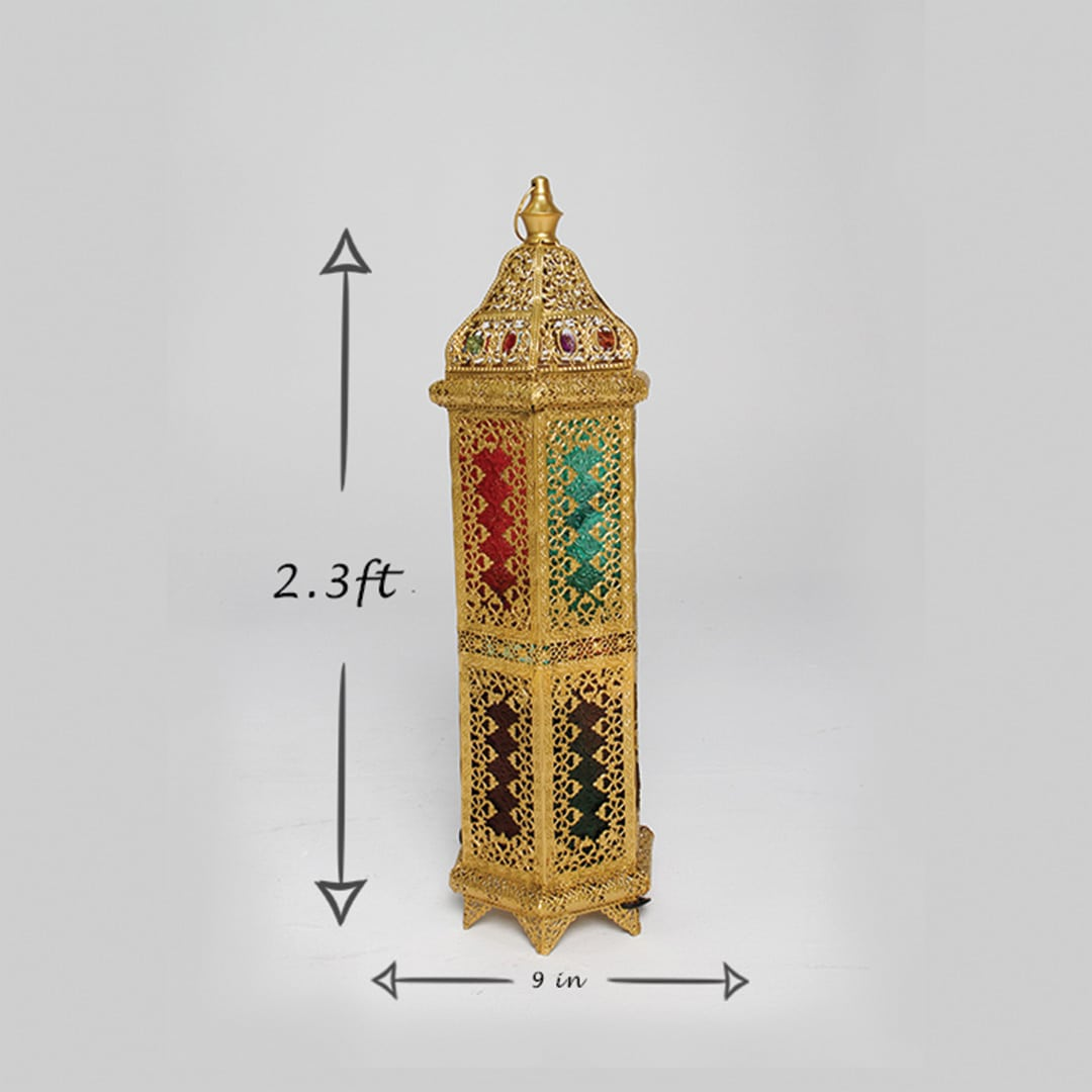 Latern Moroccan Medium Gold