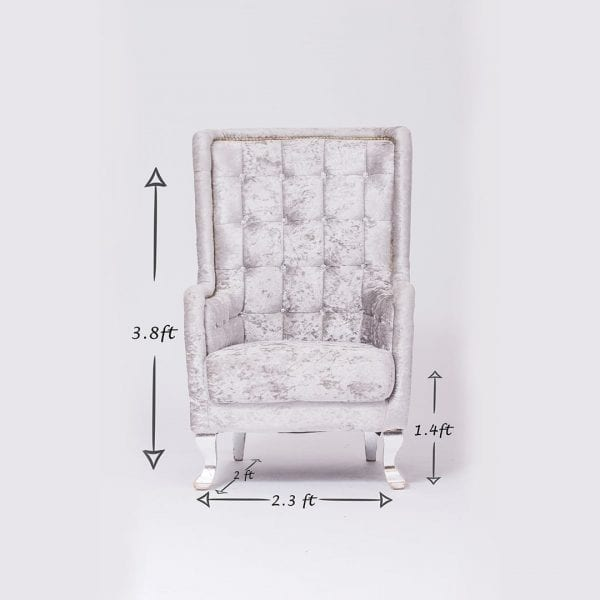 Silver Tufted Chair