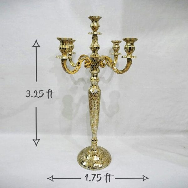 Gold Mosaic Candleabra