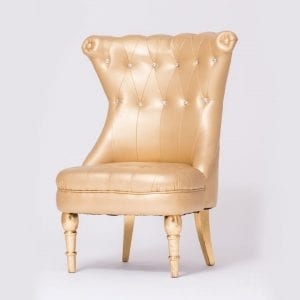 Gold Tufted Chair With Modern Style