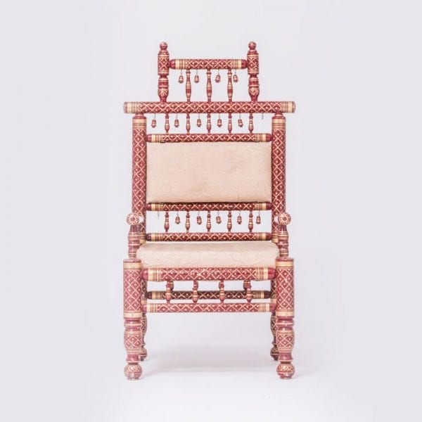 Burgandy Sankheda Chair