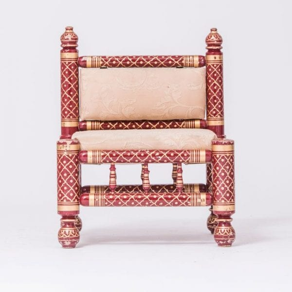 Burgandy Sankheda Parent Stool