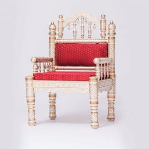 Low Back Red Sankheda Chair