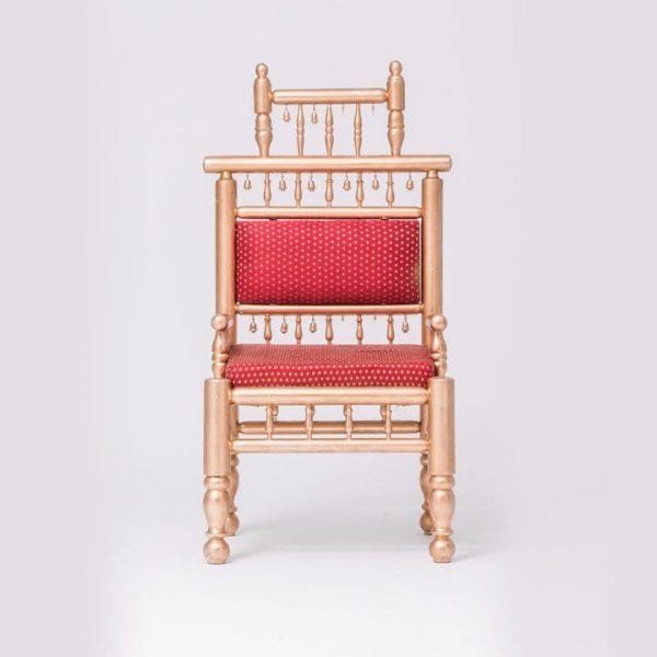 Red Sankheda Chair