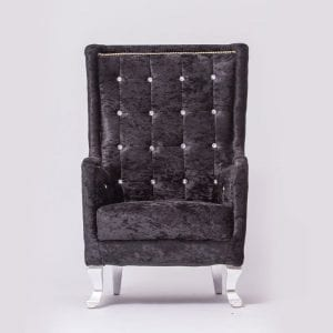 Tall Black Tufted Chair For Wedding