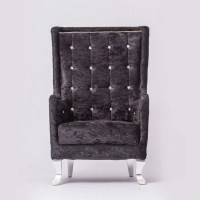 Black Tufted Chair  Event Rent