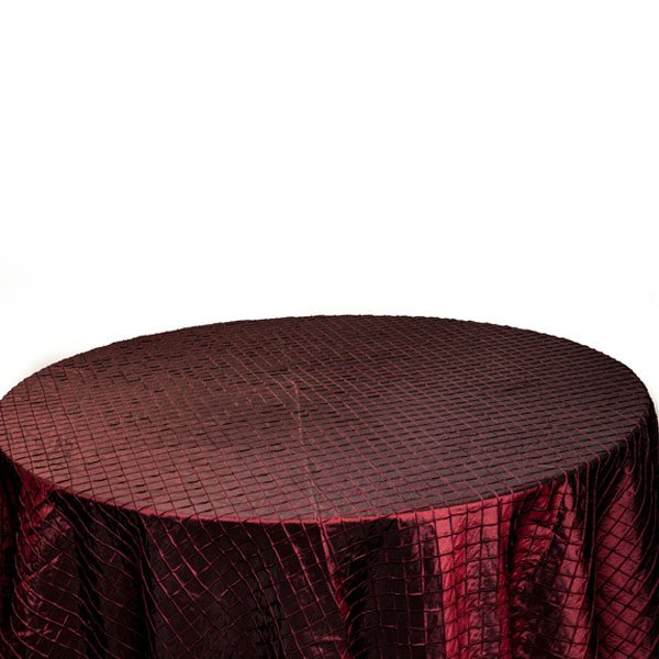 Chocolate Pintuck Table Cloth