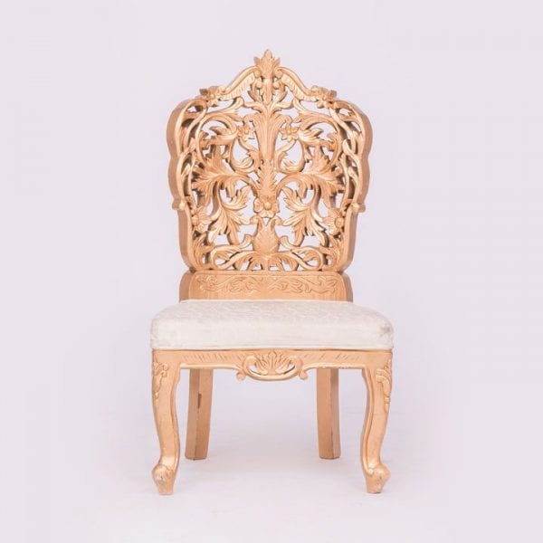Gold Delazio Chair No Arm Rest