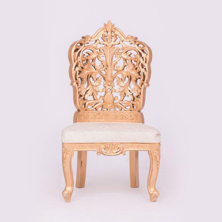Gold Delazio Chair No Arm Rest