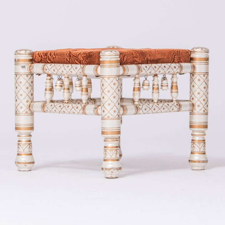 Ivory Gold Parent Stool