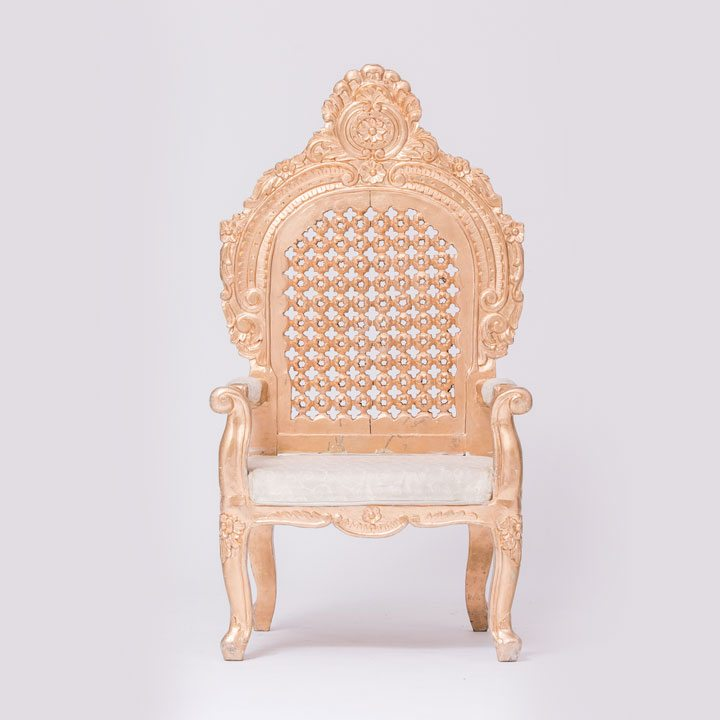 Golden Jodha Akbar Chair
