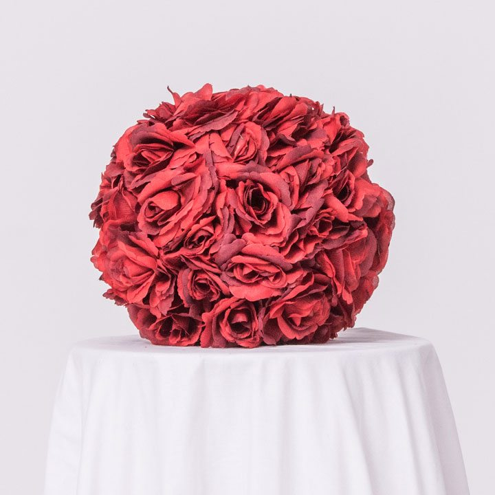 Beautiful Red Rose Floral Ball On Event Rent