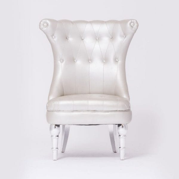 Silver Tufted Chair With Different Style