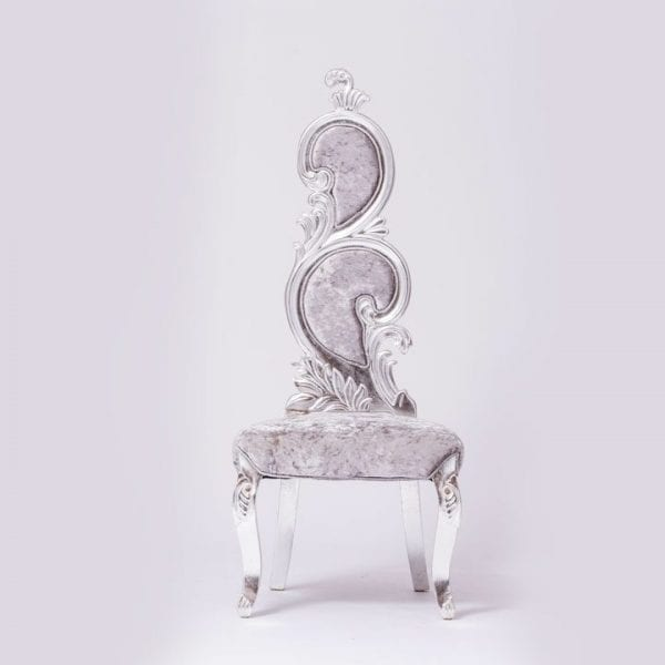 A Beautiful Silver Velvet Chair