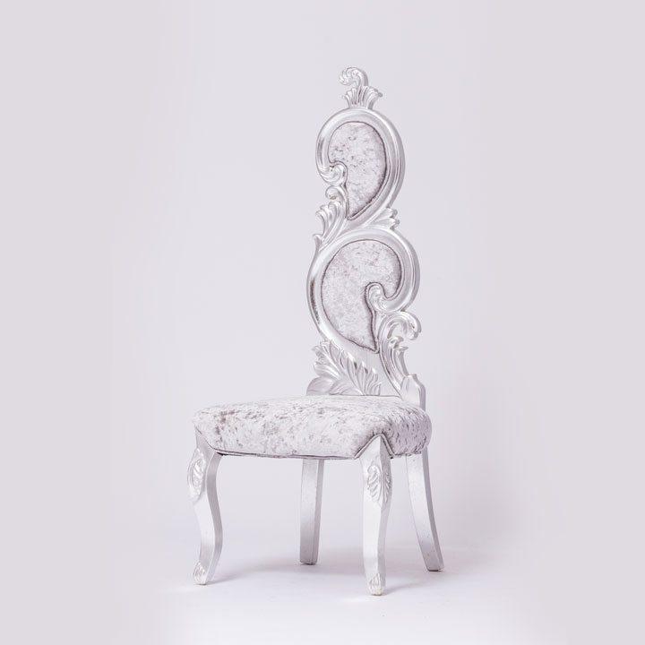 New Style Silver Velvet Chair