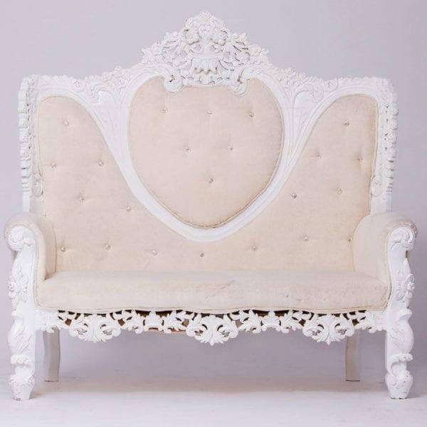 White Venetian Love Seat