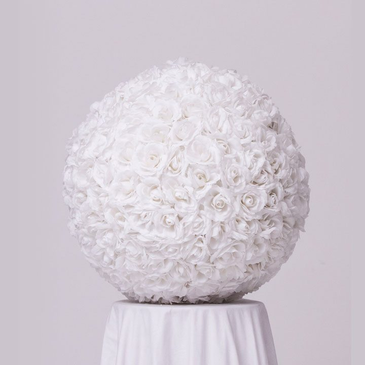 White Flower Ball Centerpiece
