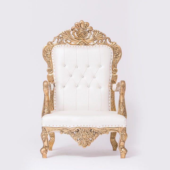 Golden & White Colour Outline Chair