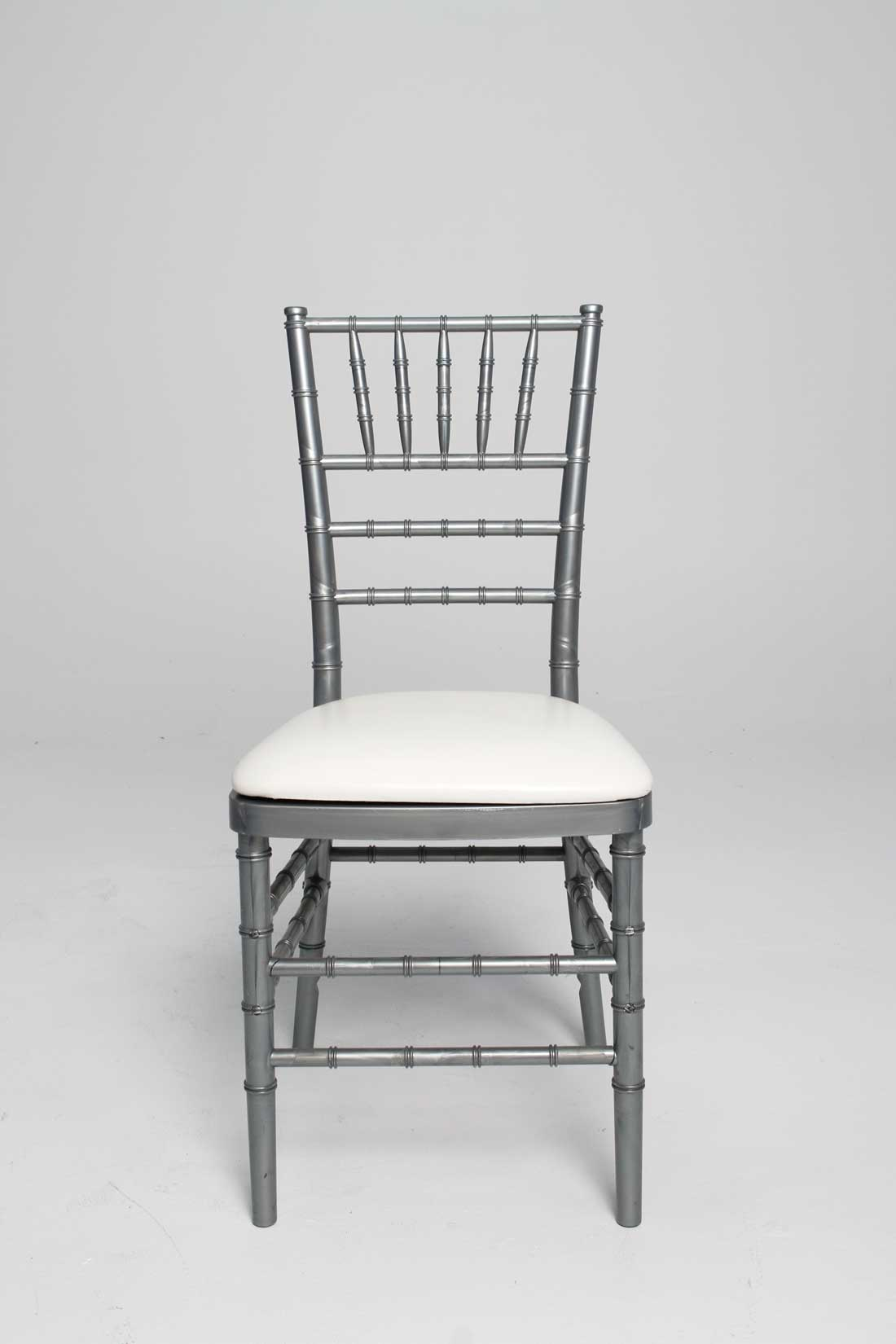 White Resin Stacking Chiavari Chair