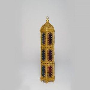 Long Golden Iron Lantern