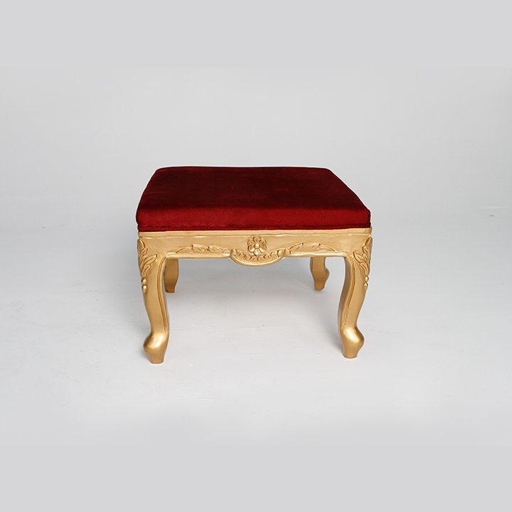 A Red Seat Wooden Table