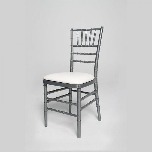 A Silver Chair With Seat