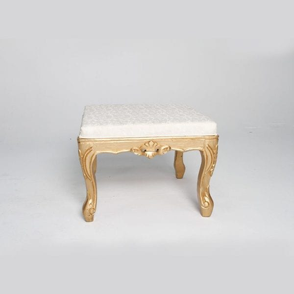 Golden With White wooden Table