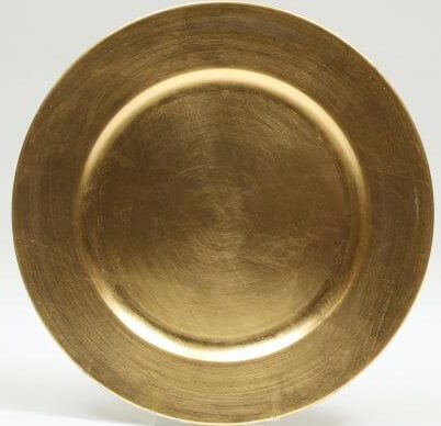 Round Shape Gold Plate