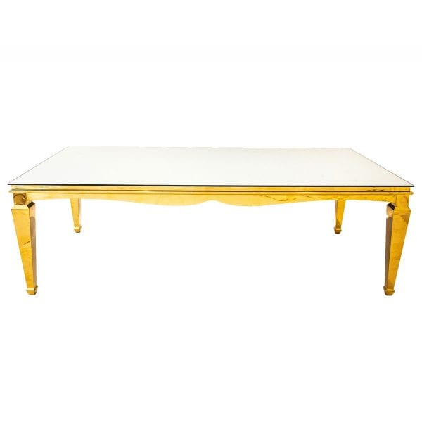 Gold Mirror Table rental